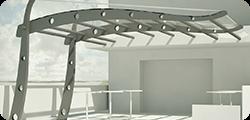 Rendering e progetti per opere e lavori in policarbonato