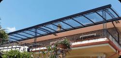 Copertura per terrazzo in policarbonato