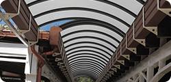 Tunnel di collegamento in policarbonato